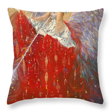 The Angel Of Life Throw Pillow