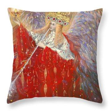 The Angel Of Life Throw Pillow by Annael Anelia Pavlova