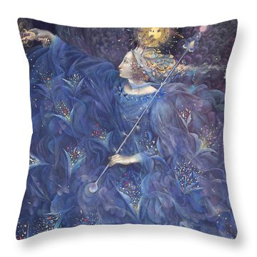 The Angel Of Power Throw Pillow