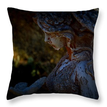 The Angel Of The Grove Throw Pillow