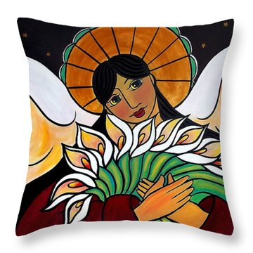 The Angel Of The Resurrection Throw Pillow