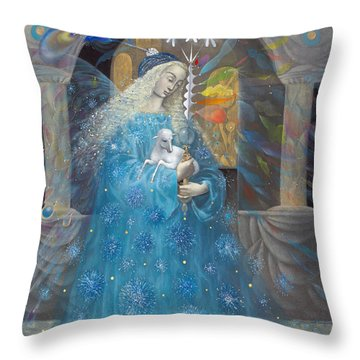 The Angel Of Truth Throw Pillow