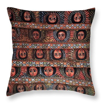 The Angels Of Debre Birhan Selassie Church Throw Pillow