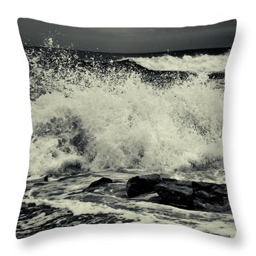 The Angry Sea Throw Pillow