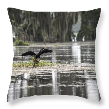 The Announcer  Throw Pillow