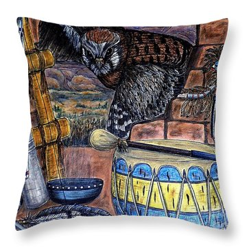 The Answer Comes Throw Pillow