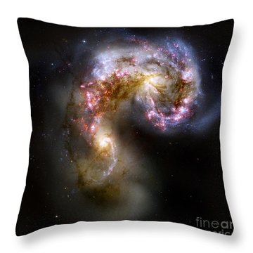 The Antennae Galaxies - Ngc 4038-4039 Throw Pillow