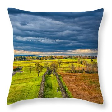The Antietam Battlefield Throw Pillow