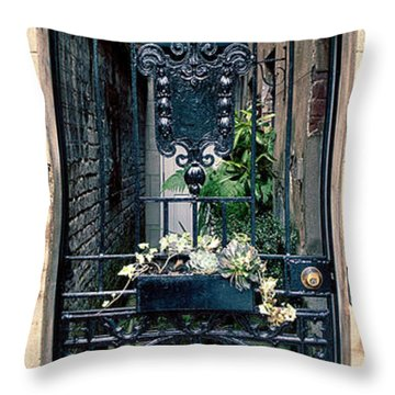 The Antique South Throw Pillow