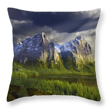 The Anvils Of Thor Throw Pillow