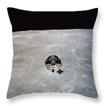 The Apollo 10 Command And Service Throw Pillow by Stocktrek Images