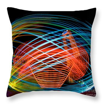 The Apollo At Dorney Park Throw Pillow by Mark Miller