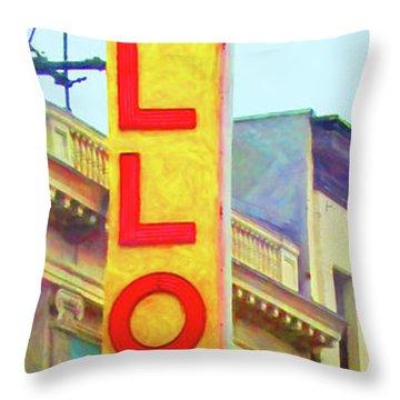 The Apollo Theater In Harlem Neighborhood Of Manhattan New York City 20180501 Throw Pillow