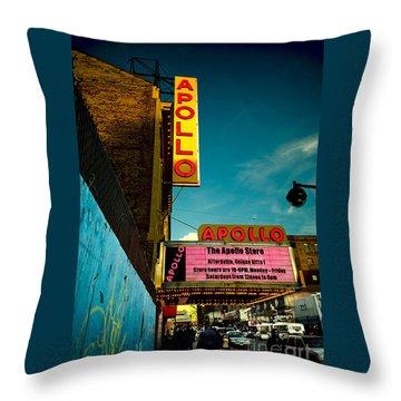 The Apollo Theater Throw Pillow by Ben Lieberman
