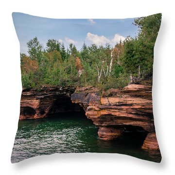 The Apostle Islands Throw Pillow