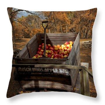 The Apple Bin Throw Pillow