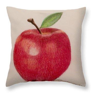 The Apple Throw Pillow