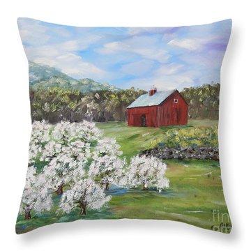 The Apple Farm Throw Pillow