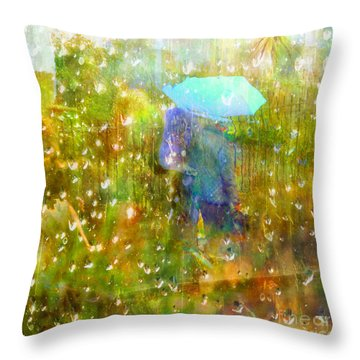 The Approach Of Autumn Throw Pillow