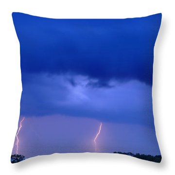 The Approching Storm Throw Pillow