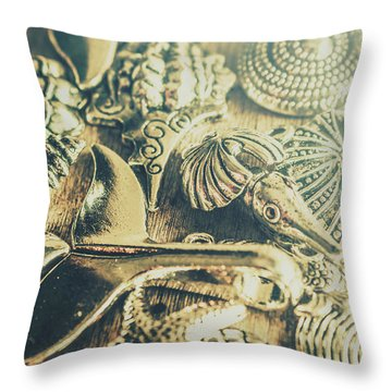 The Aquatic Abstraction Throw Pillow