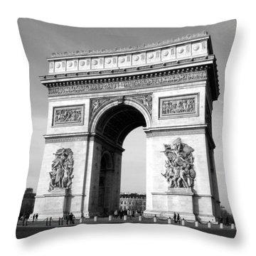 The Arc Di Triomph Throw Pillow