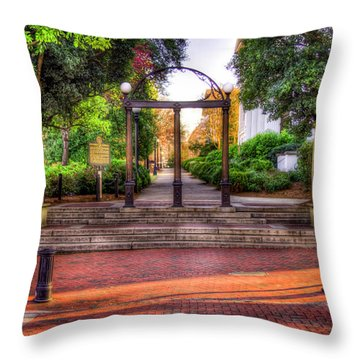 The Arch 4 University Of Georgia Arch Art Throw Pillow
