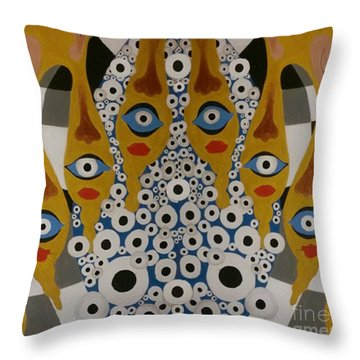 The Arch Of The Eye Throw Pillow