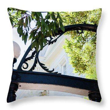 Throw Pillow featuring the photograph The Arch by Parker Cunningham