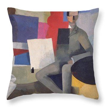 The Architect Throw Pillow by Roger de La Fresnaye