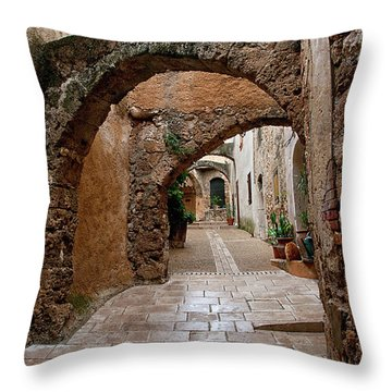 The Archways Of Villecroz Throw Pillow