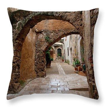 The Archways Of Villecroz Throw Pillow