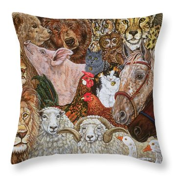 The Ark Spread Throw Pillow by Ditz