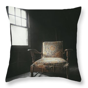 The Armchair In The Attic Throw Pillow