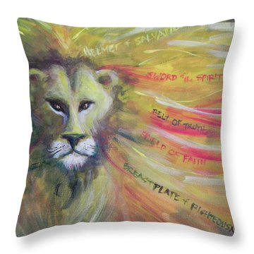 The Armor Of God Throw Pillow