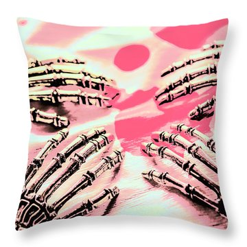 The Arms Of Automation Throw Pillow