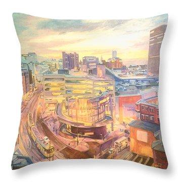 The Arndale Carpark, Manchester Throw Pillow