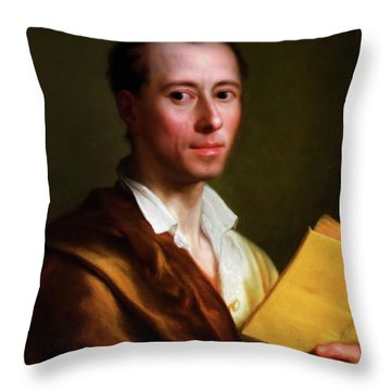The Art Historian Throw Pillow by Georgiana Romanovna
