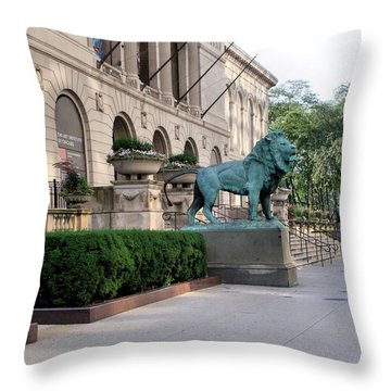 The Art Institute Of Chicago - 3 Throw Pillow by Ely Arsha