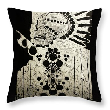 The Art Of Abstraction Throw Pillow by Michael Kulick