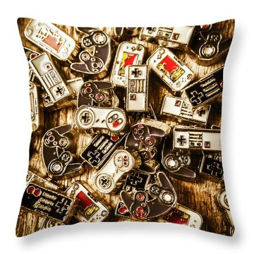 The Art Of Antique Games Throw Pillow