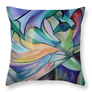 The Art Of Belly Dance Throw Pillow by Tracey Harrington-Simpson