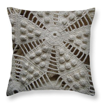 The Art Of Crochet  Throw Pillow