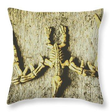 The Art Of Dinosaur Birds Throw Pillow