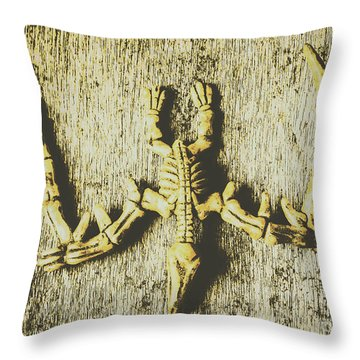 The Art Of Dinosaur Birds Throw Pillow