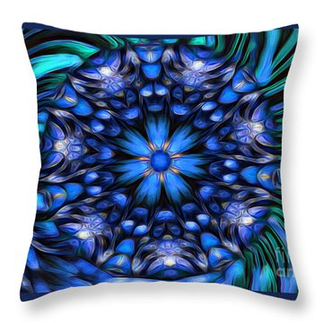 The Art Of Feeling Centered Throw Pillow by Mary Lou Chmura