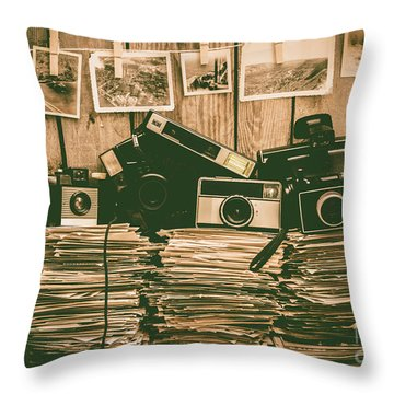 The Art Of Film Photography Throw Pillow