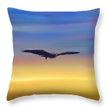 The Art Of Flying Throw Pillow by Bernd Hau