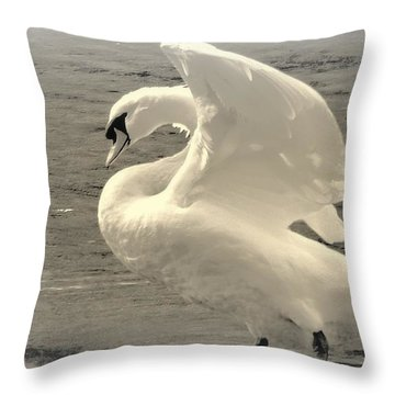 The Art Of The Swan  Throw Pillow
