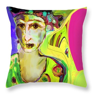 The Artist In Fauve Working Artist Throw Pillow